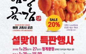 2018 설맞이 함양곶감 특판행사(청계광장)